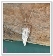 Curved Fern Necklace
