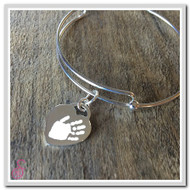 Single Hand or Footprint Heart Charm