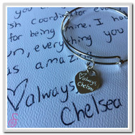 Engraved Handwriting Heart Charm
