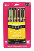MICRON 6 PC SET - BLACK
