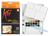 KOI WATER COLORS FIELD SKETCH BX W/ BRUSH - 18 PC SET - 18 COLORS