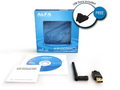 ALFA Network AWUS036ACS Wide-Coverage Dual-Band AC600 USB Wireless Wi-Fi Adapter w/High-Sensitivity External Antenna - Windows, MacOS & Kali Linux Supported
