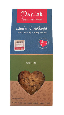 Line's Knækbrød Danish Crackerbread - Cumin