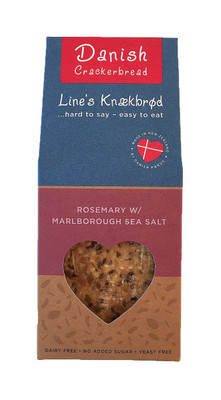 Line's Knækbrød Danish Crackerbread - Rosemary w/ Marlborough Sea Salt