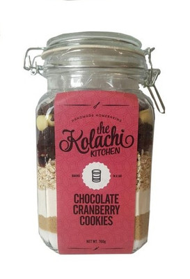 The Kolachi Kitchen Baking In Jar Chocolate Cranberry Cookies