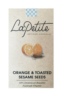 La Petite Organic Chocolate - Orange & Toasted Sesame