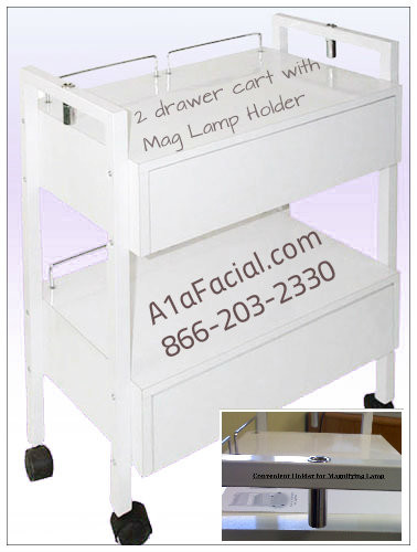 A1a trolley with 2 drawers a1afacial for A1a facial and salon equipment