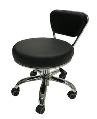 "Black Pedicure Dayton  Tech Stool Adjustable Height: 13"" to 15"""