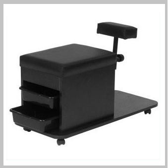 Technician pedicure cart black a1afacial for A lenox nail skin care salon