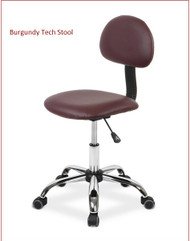 "Burgundy Tech Stool  Adjustable Height 20.5""-28"""