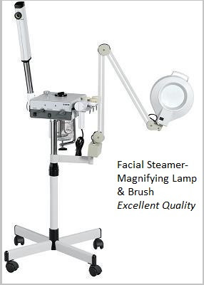 Facial steamer magnifying lamp brush a1afacial for A lenox nail skin care salon