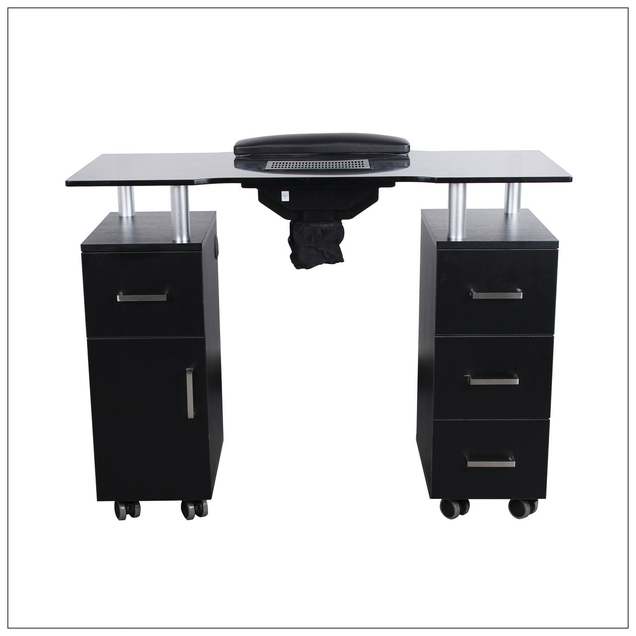 Nail table w fan black a1afacial for A lenox nail skin care salon