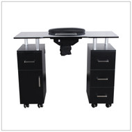 Nail Table w/ Fan Black