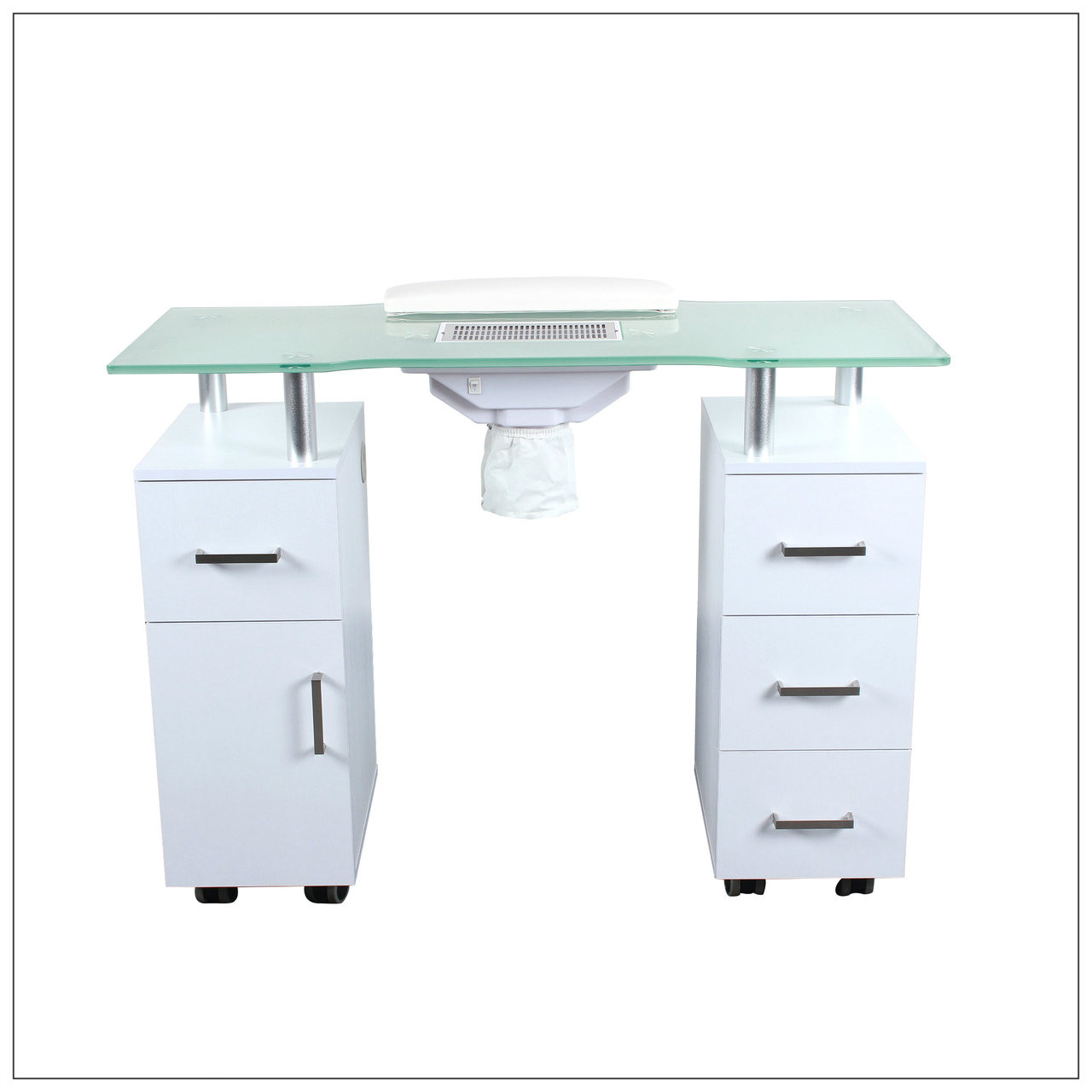 Nail table w fan white a1afacial for A lenox nail skin care salon