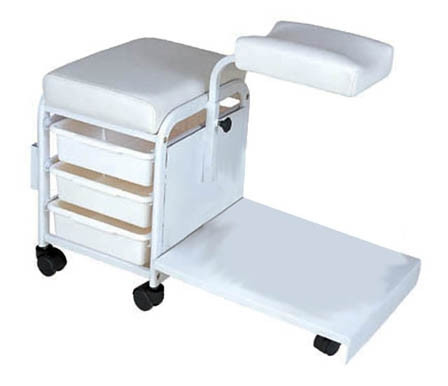 Pedicure technician pedicure cart white a1afacial for A lenox nail skin care salon