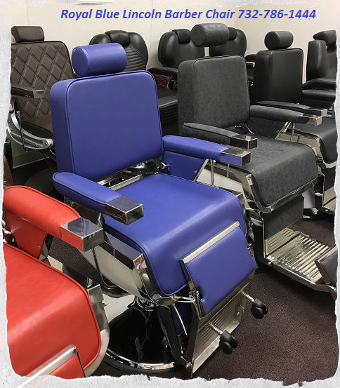 Royal Blue Lincoln Barber Chair