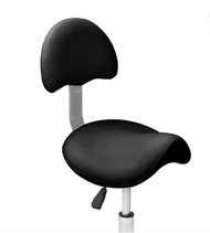 Athena Black Saddle Stool