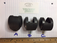 3 different caster wheels are in stock