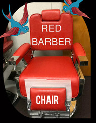 Red Athena Barber Chair