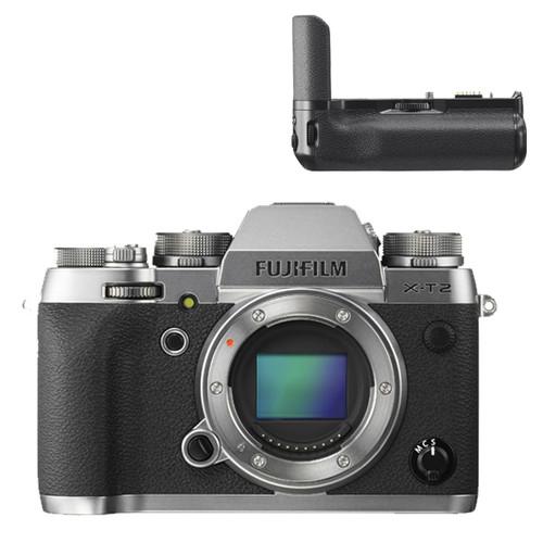 Fujifilm X-T2 Body Graphite Silver w/ Vertical Power Booster