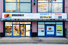 Front exterior of Vancouver camera store