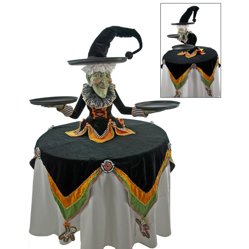 Cupcake Witch Display with Table Overlay