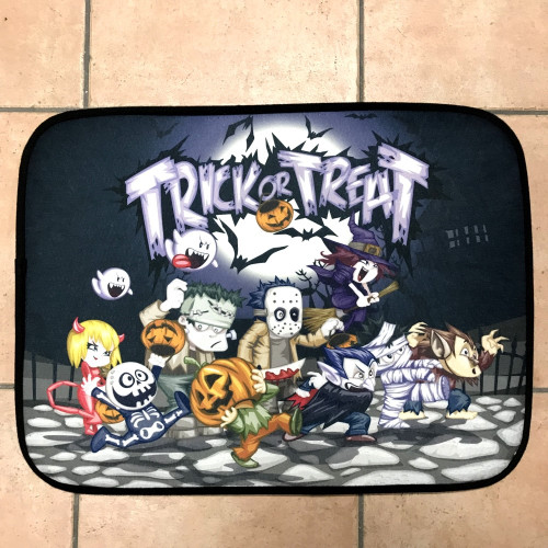 Screaming Halloween Door mat with Flashing Led Lights
