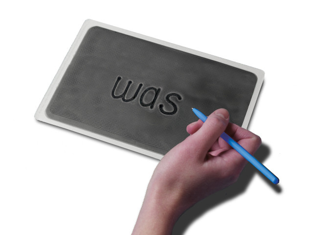gel word board with magic pen