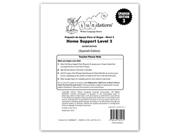 Home Support Pack 3 (Spanish) Second Edition