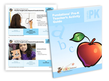 Pre-K Activity Guide with tear-out cue cards