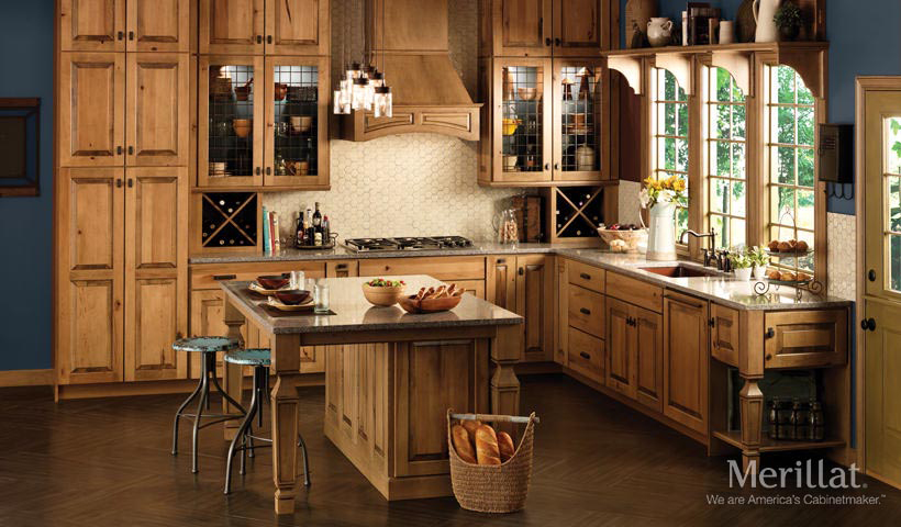 Rustic Maple Kitchen in Husk