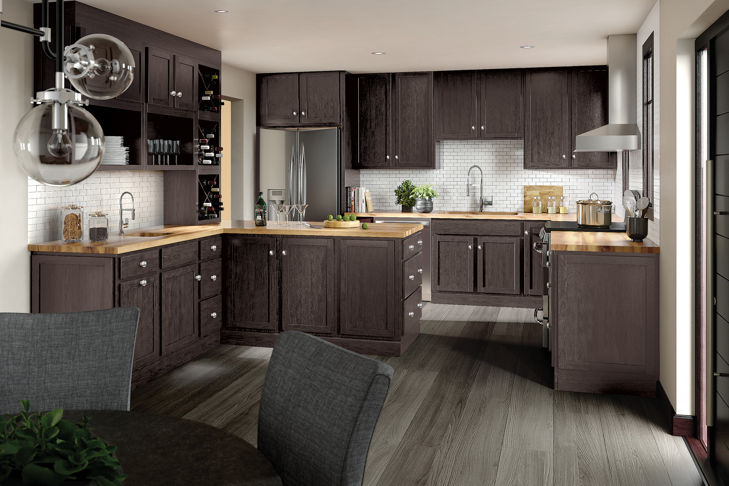 Merillat Classic 174 Marlin Maple In Basalt Cabinets