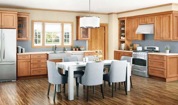 Merillat Classic® Ralston w/ 5 piece drawer in Maple Hazelnut with Java Glaze