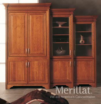 Exceptionnel Merillat Masterpiece® Tall Entertainment Cabinet With Pocket Doors