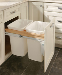 Merillat Classic® Base Top Mount Wastebasket (Double)