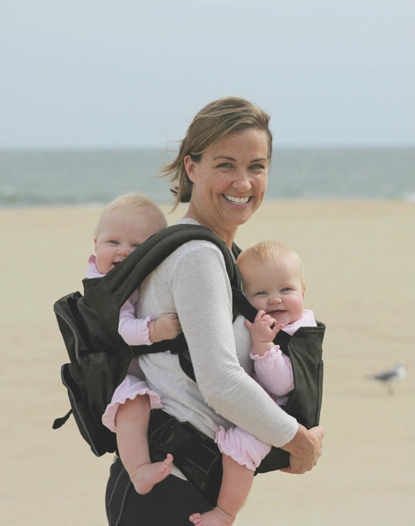 Twingaroo Twin Baby Carrier and Diaper Bag- Black