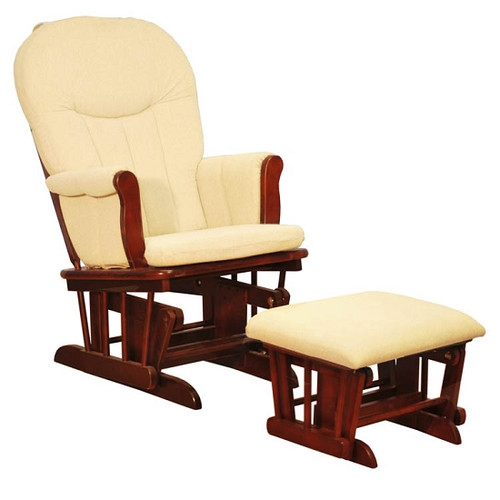 Deluxe Glider Chair (Cherry with Creme Cushions)