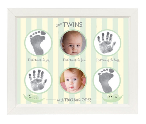 Our Twins Handprint and Footprint Frame