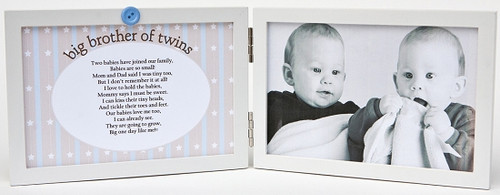 Big Brother of Twins Picture Frame