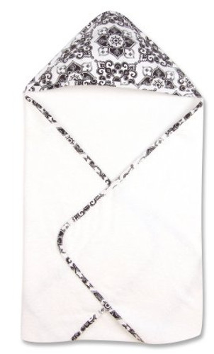 Versailles Black & White Hooded Towel