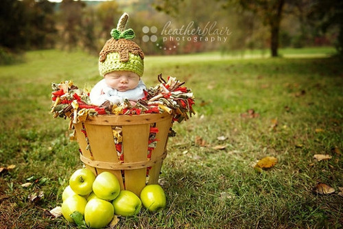 Knitted Caramel Apple Hats (Set of 2)