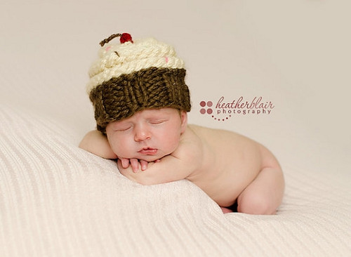 Knitted Cupcake Hats (Set of 2)