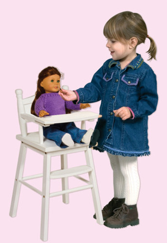 White Doll Highchair