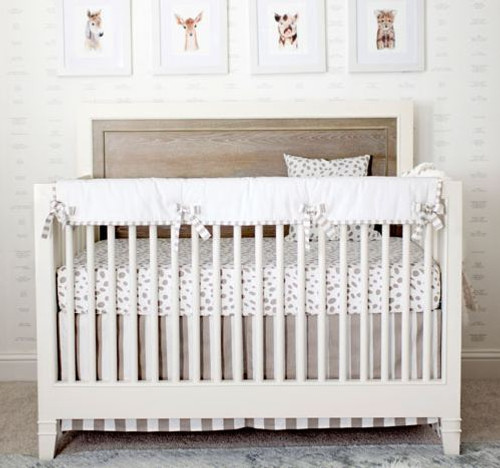 Dalmatian Spots Neutral Crib Rail Cover Set | Catherine & Sean Lowe Collection