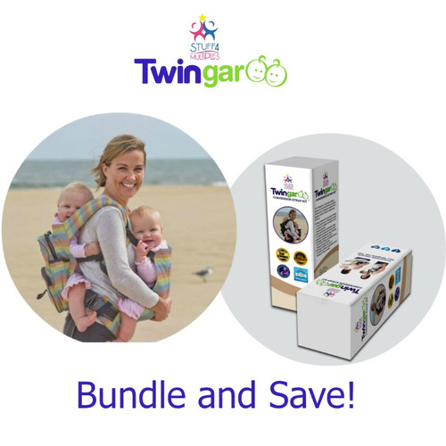 Bundle and Save! Bundle includes one rainbow carrier and one conversion strap kit. Now you can use your Twingaroo as a double carrier or TWO separate carriers!