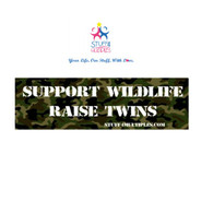 Support Wildlife Raise Twins Car Magnet