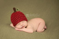 Chunky Red Apple Knitted Hats