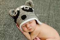 Crochet Raccoon Hats (Set of 2)