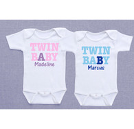 Personalized Baby A and Baby B Shirts