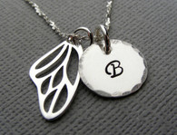 Butterfly Wing Initial Necklace